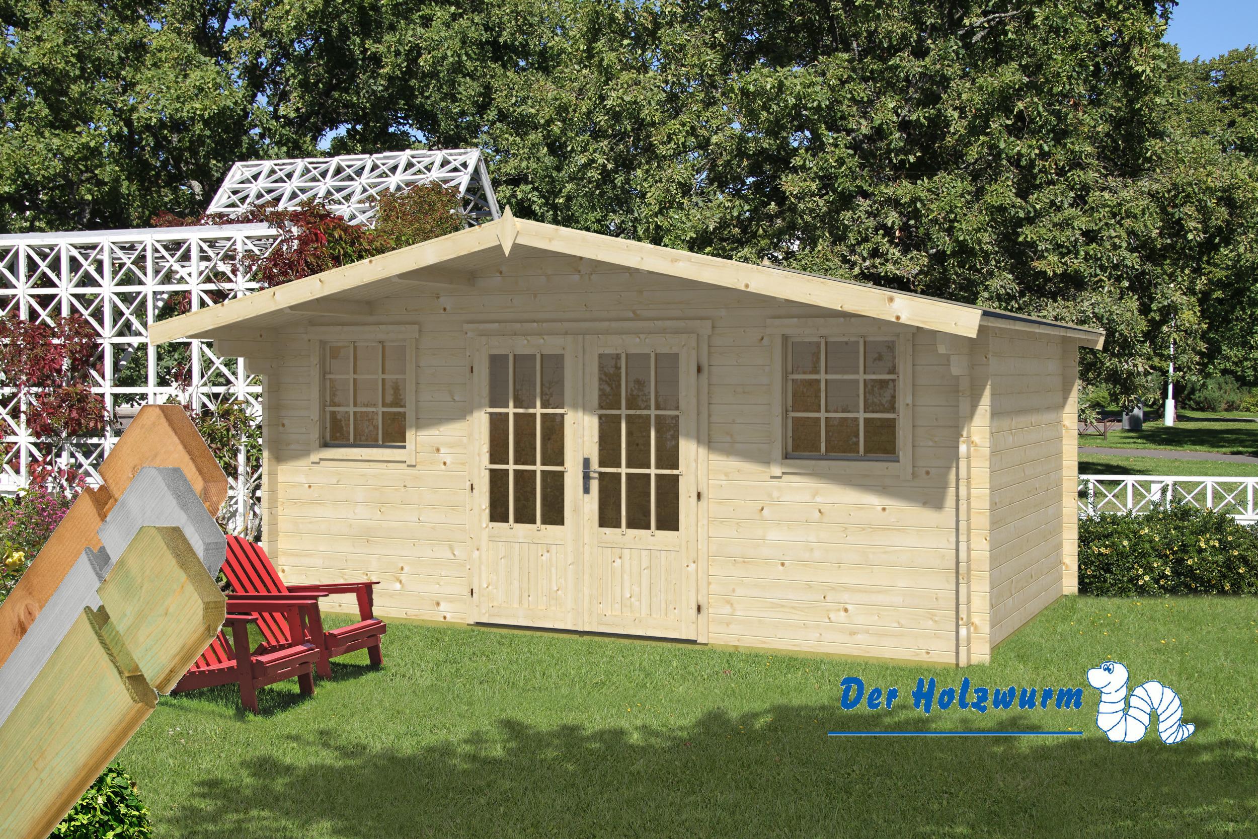 gartenhaus karen 40 mm ca 500x320 cm holzwurm obersayn. Black Bedroom Furniture Sets. Home Design Ideas