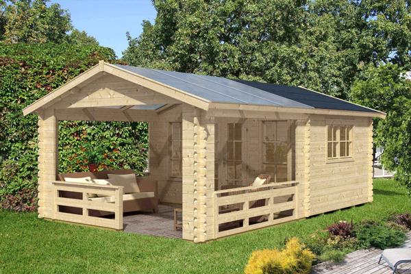 Gartenhaus Dacheindeckung mit Kunststoff und Dachpappe