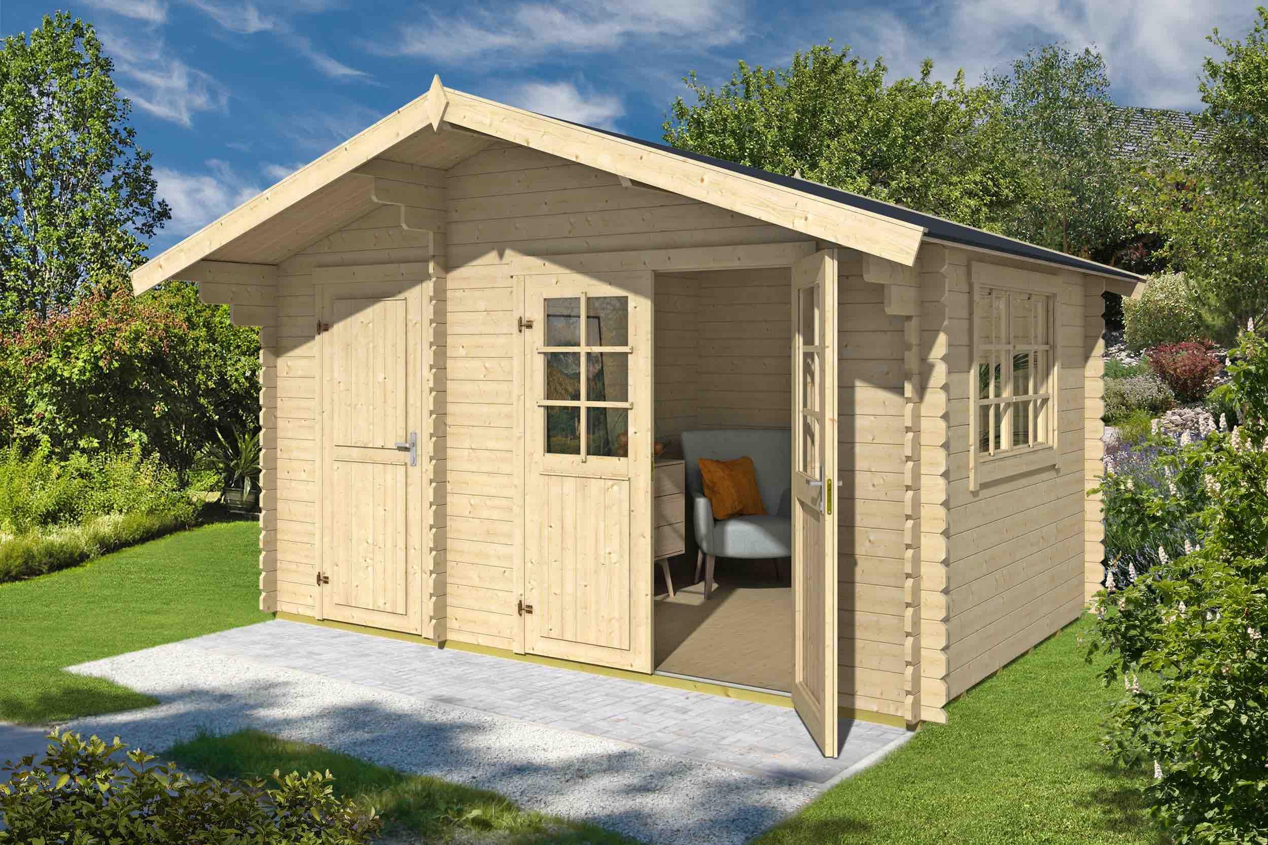 gartenhaus aktion 27 28 mm ca 400x270 cm holzwurm obersayn. Black Bedroom Furniture Sets. Home Design Ideas